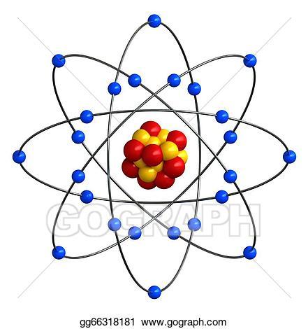 Stock illustration atomic gg. Atom clipart atom structure
