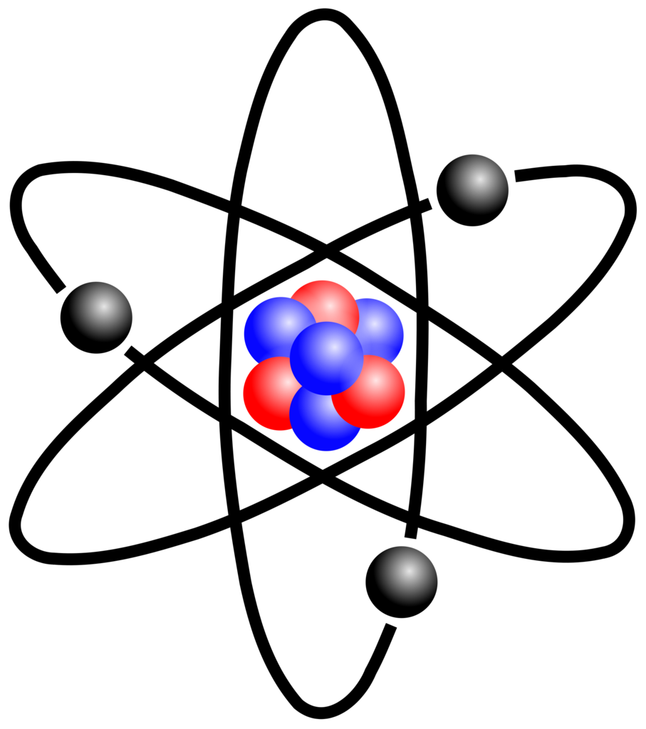 The development of structure. Atom clipart atomic model