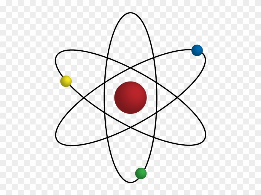 Atom clipart atomic model. Rutherford png