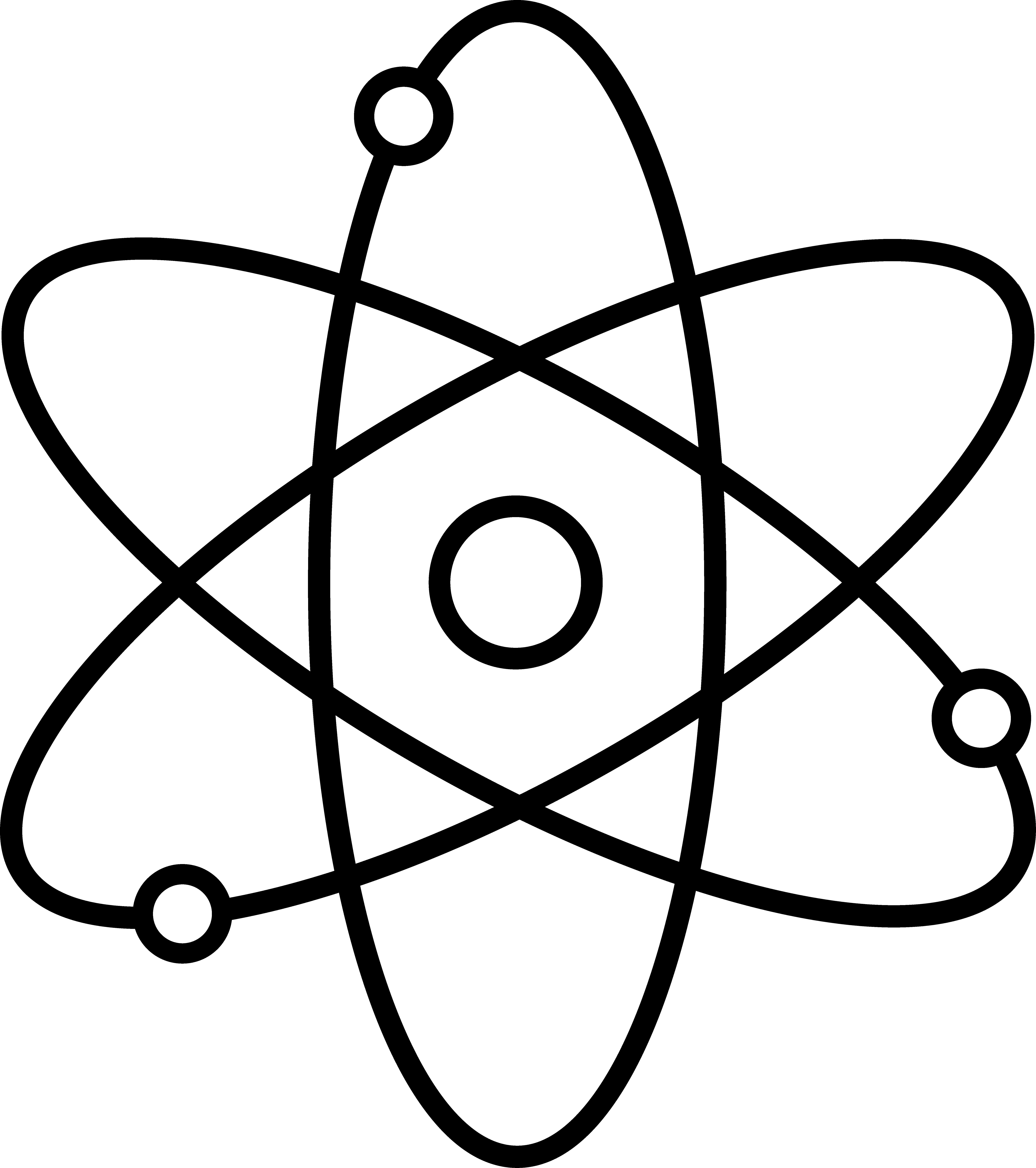 Nuts clipart outline. Atom symbol