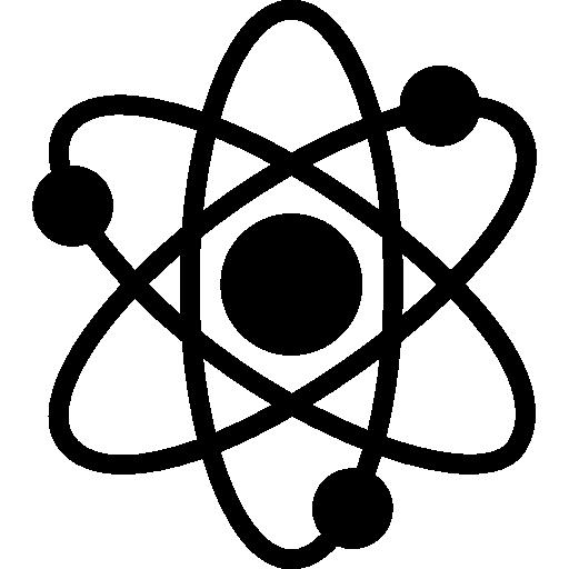 Atomic icon . Atom clipart black and white