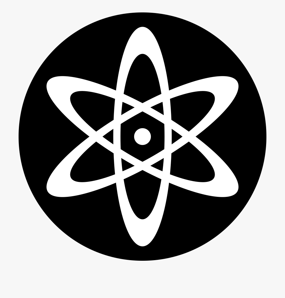 Atom clipart black and white. Symbol png free
