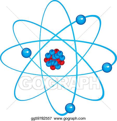 Atom clipart blue. Vector art eps gg