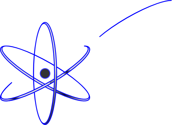 Clip art at clker. Atom clipart blue