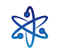 Atom clipart blue. Best free images icons
