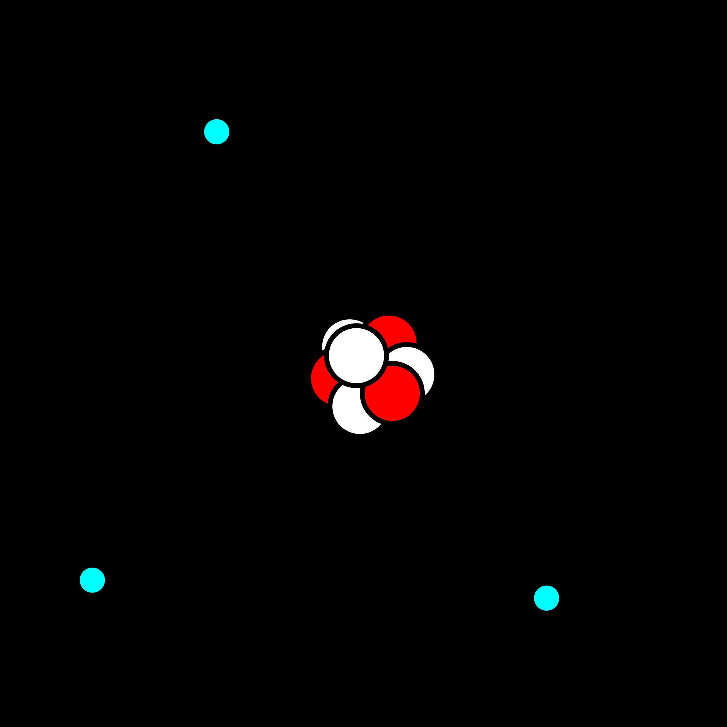 Lithium in bohr icons. Energy clipart atom model