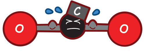 Co muscleman png cartoon. Atom clipart carbon atom