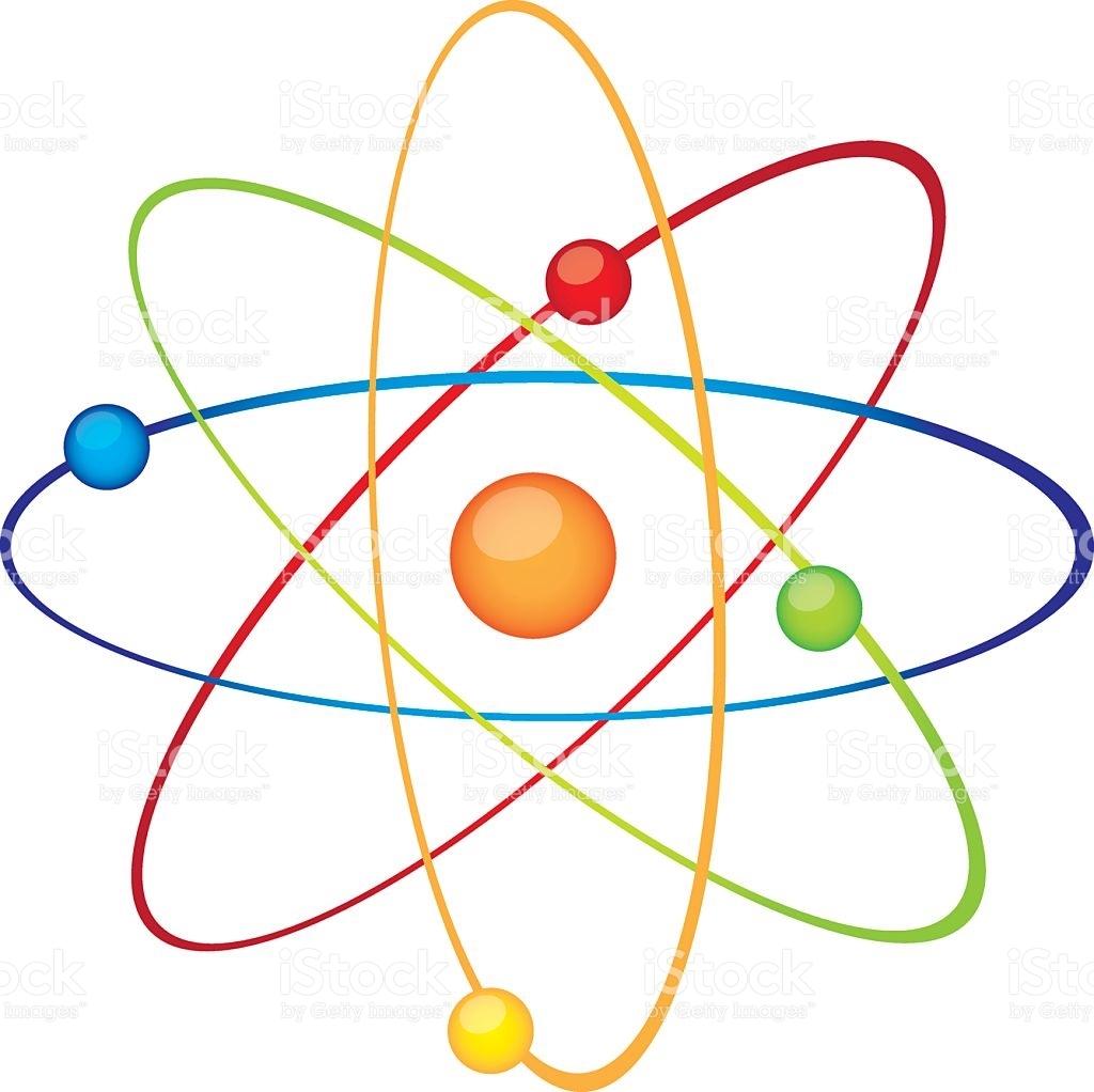 Fresh design digital collection. Atom clipart chemistry