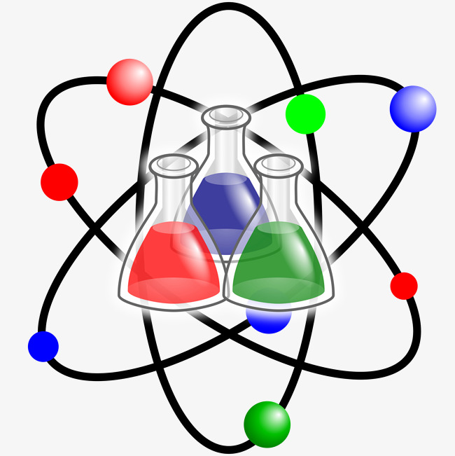 Atom clipart chemistry. Chemical reagents png image