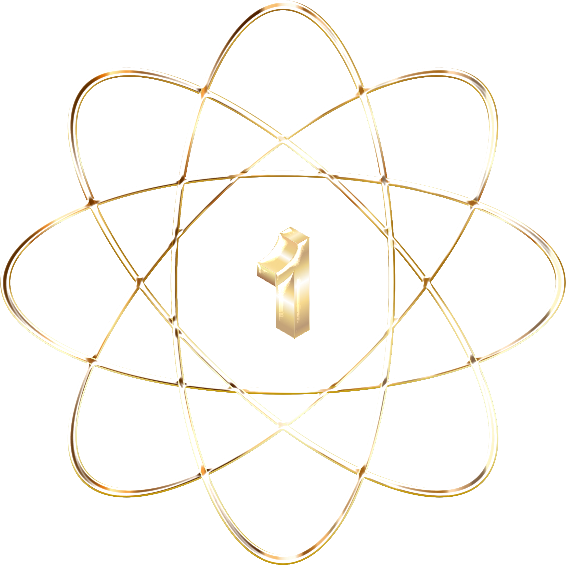 Atom clipart clear background. Gold enhanced no big
