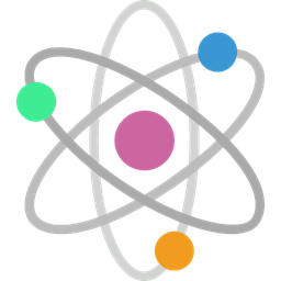 Nuclear electron physics atoms. Atom clipart clear background