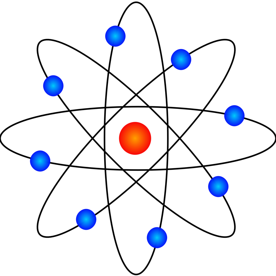 Energy clipart atom model. Public domain clip art