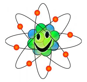 Multicolor clip art download. Atom clipart colorful