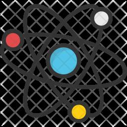 Icon . Atom clipart colorful