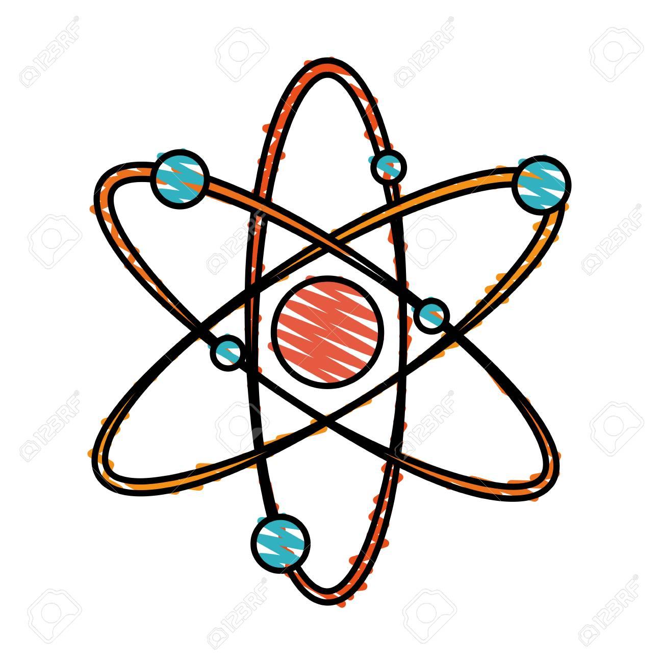 Atom clipart colorful. Vector illustration portal