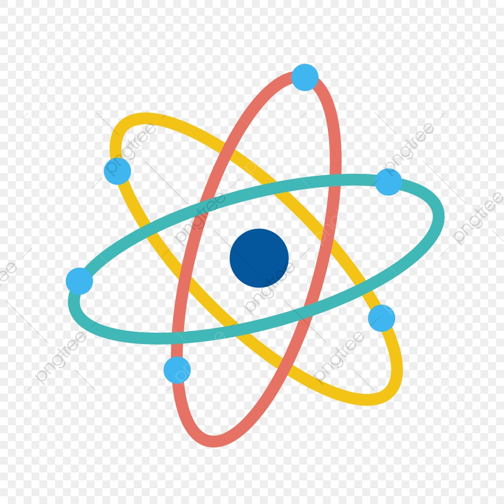 Icon molecule nuclear png. Atom clipart colorful