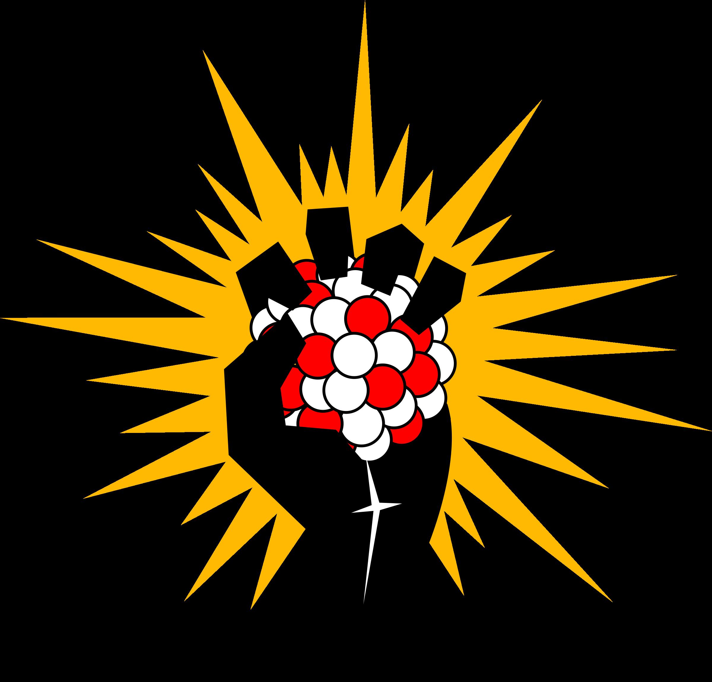 Atom clipart energy. Atomic fist big image