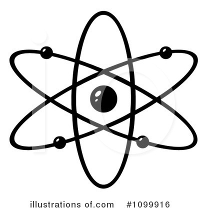 Illustration by hit toon. Atom clipart energy