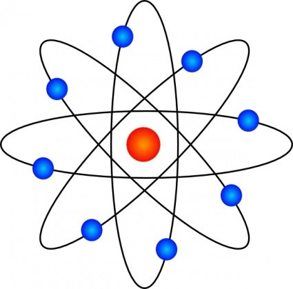 Free symbol and vector. Atom clipart energy