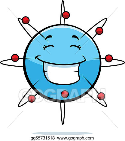 Atom clipart happy. Eps illustration smiling vector