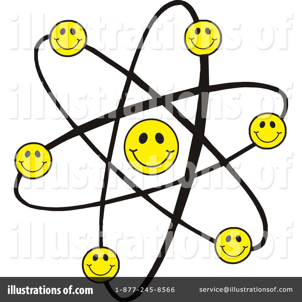 Atom clipart happy. Illustration by johnny sajem