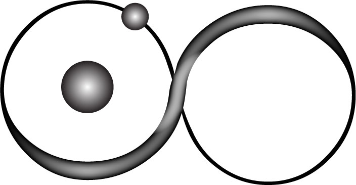 Atom clipart hydrogen atom. Infinity tattoo idea by