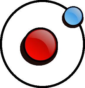 Symbol clip art at. Atom clipart hydrogen atom