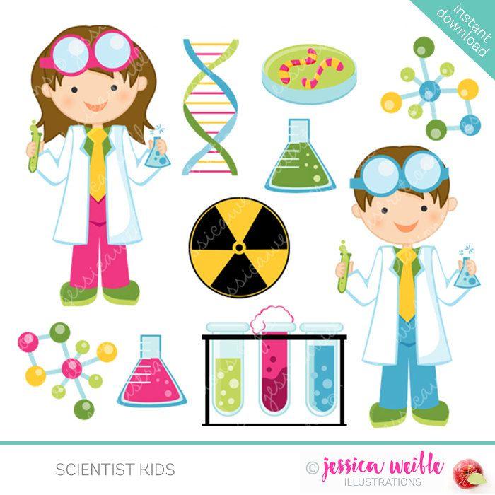 Design clipart science. Scientist kids cute clip