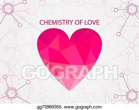 Vector art chemistry of. Atom clipart love