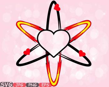 Heart valentine s day. Atom clipart love