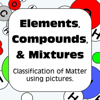 Elements and compounds worksheet. Atom clipart mixture