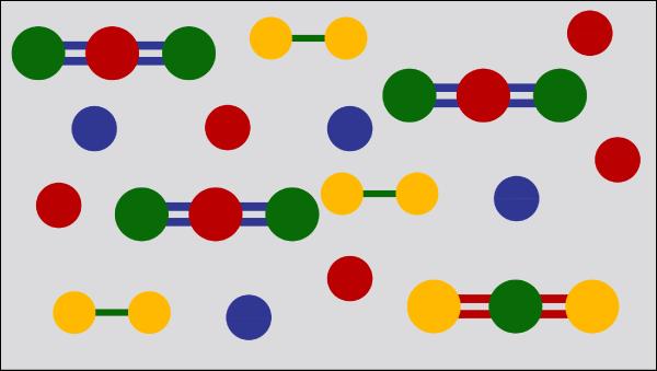 Atom clipart mixture. Elements compounds mixtures modeling