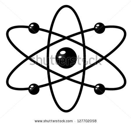 Simple electron panda free. Atom clipart neutron