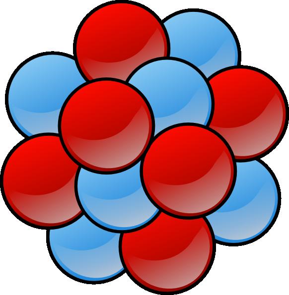 Clip art at clker. Atom clipart nucleus