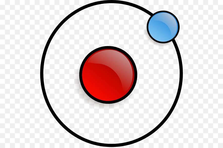 Atomic molecule computer icons. Atom clipart nucleus