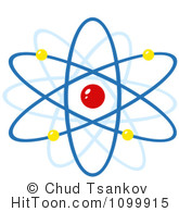 Atom clipart nucleus. Royalty free stock illustrations