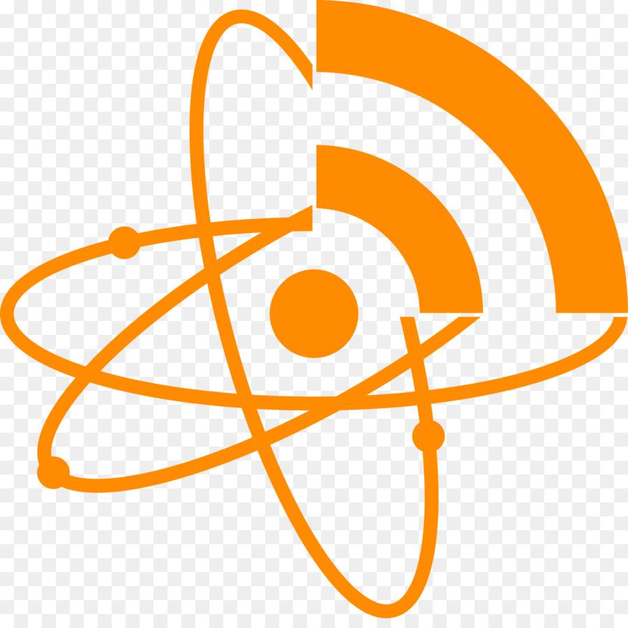 Atom clipart orange. School symbol yellow text
