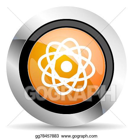 Atom clipart orange. Stock illustration icon drawing