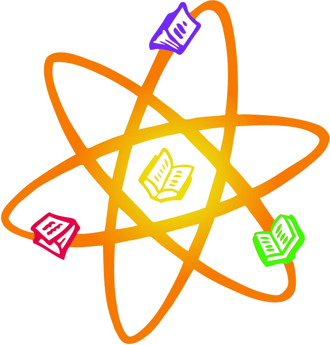 Atom clipart orange. Reaction panda free images
