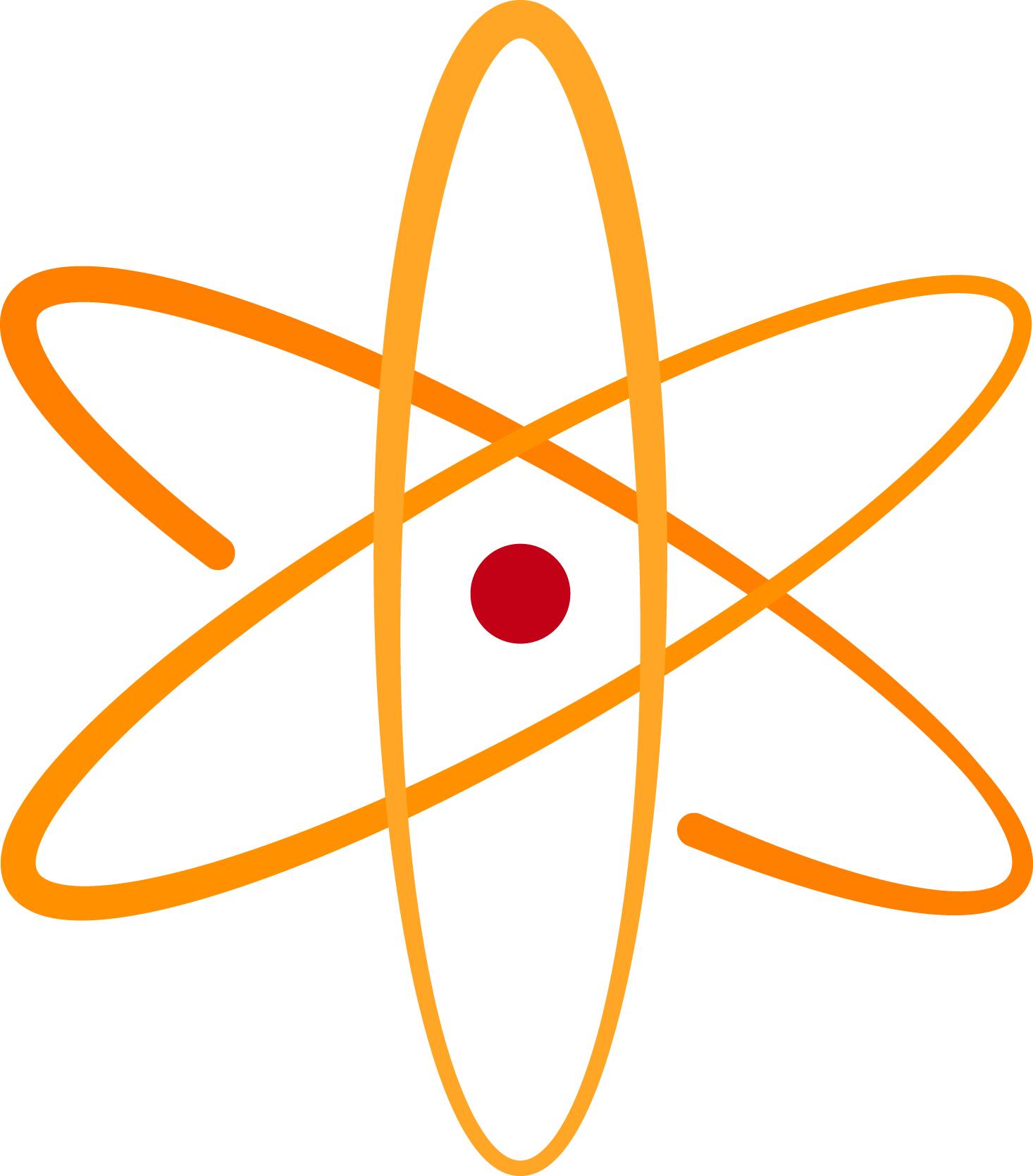 Finding the sterile neutrino. Atom clipart orange