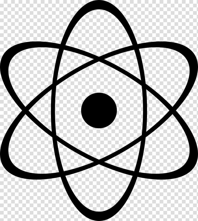 Black star logo atomic. Atom clipart physics
