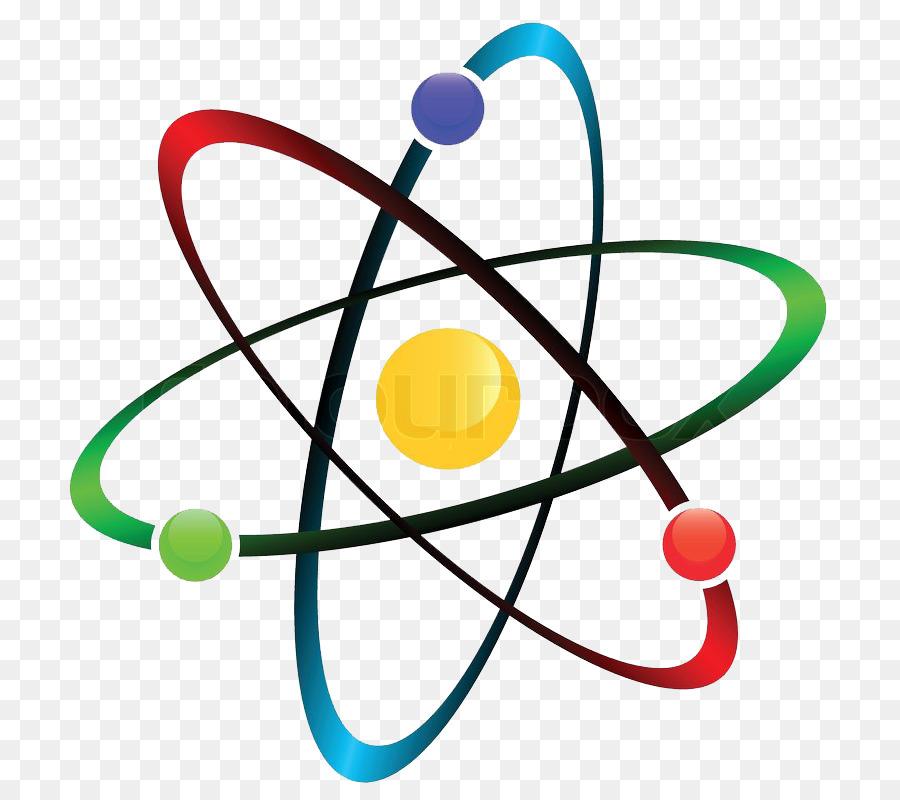 Chemistry cartoon illustration . Atom clipart physics
