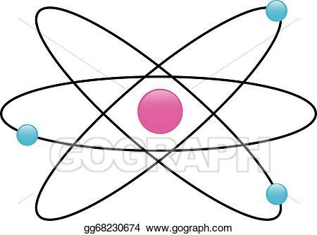 Atom clipart physics. Vector art drawing gg