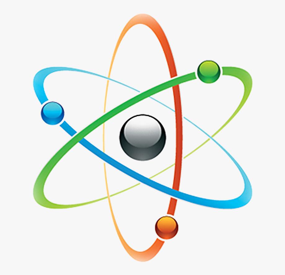 Logo design symbol . Atom clipart physics