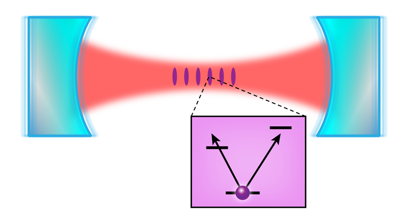 Physics viewpoint inducing transparency. Atom clipart purple
