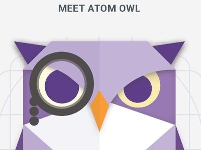 Atom clipart purple. Owl by kaplan test