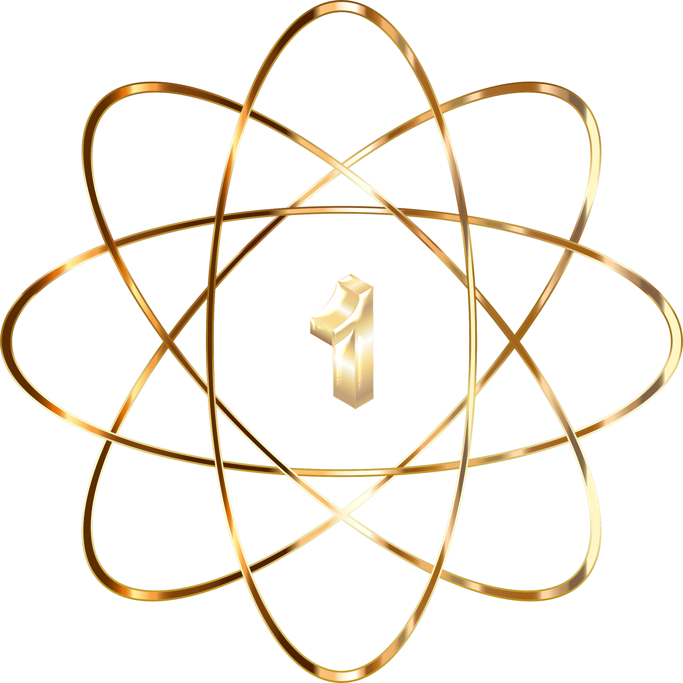 Gold no icons png. Atom clipart transparent background