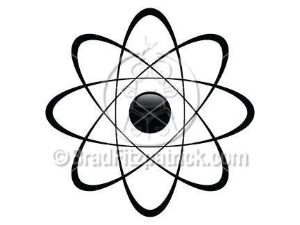 Clip art graphics icon. Atom clipart vector