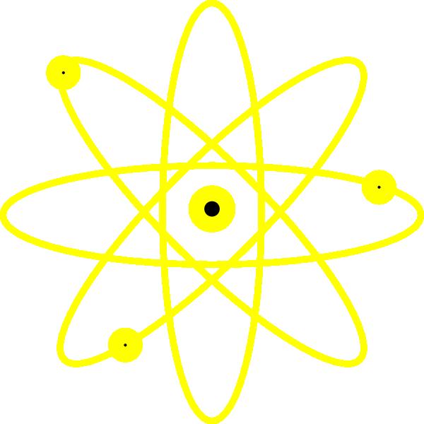 Atom clipart yellow. Clip art at clker