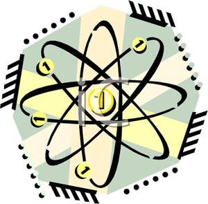 The number in an. Atom clipart yellow